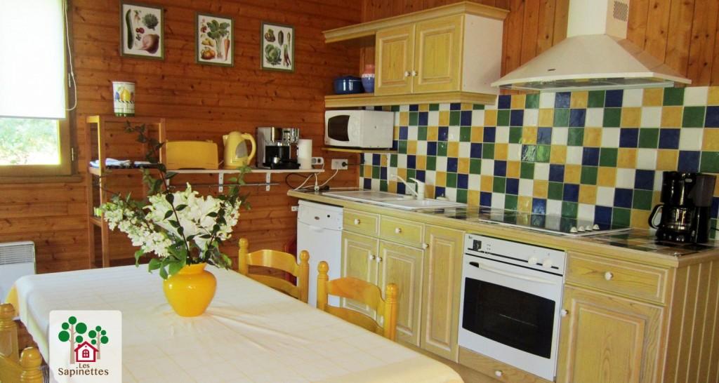 Les Sapinettes location vacances Bergerac : la cuisine